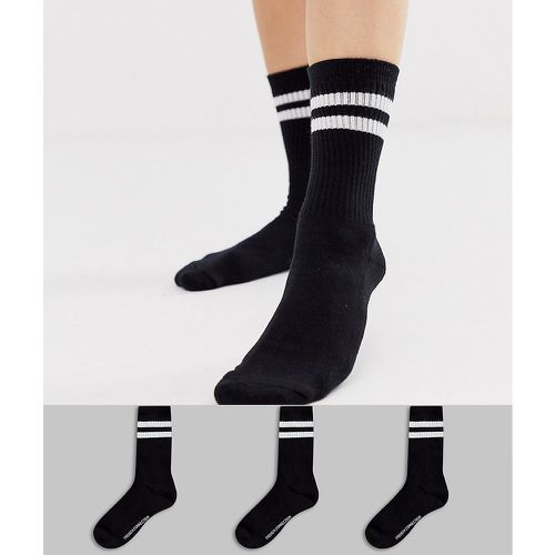 Lot de 3 paires de chaussettes de sport à rayures - French Connection - Shopsquare