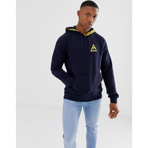 Scotch and Soda - Hoodie imprimé avec capuche à bande - Bleu marine - Scotch & Soda - Shopsquare