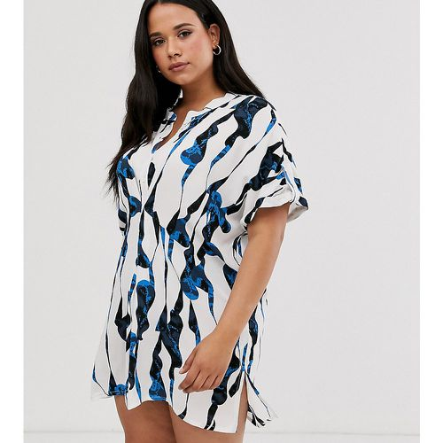 Robe tunique imprimée oversize - i.Scenery - Shopsquare
