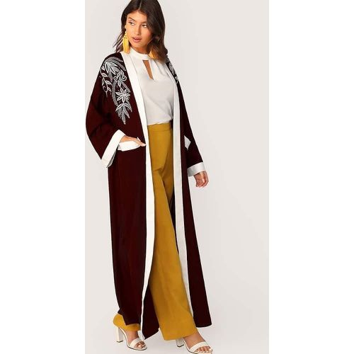 Abaya avec broderies et poches - SHEIN - Shopsquare