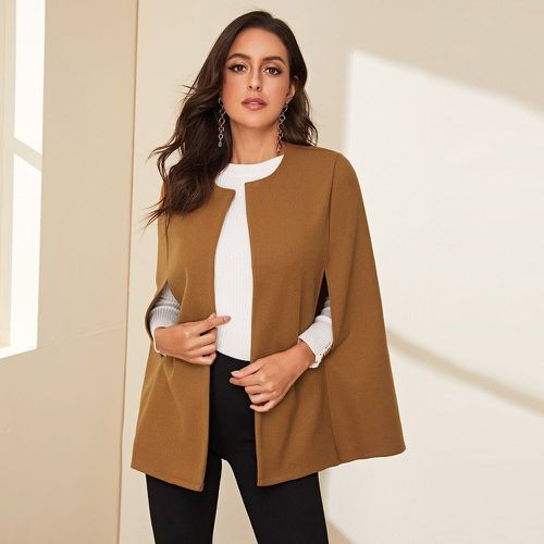 Manteau manches cape unicolore - SHEIN - Modalova