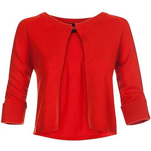 Cachemire Gilet. Pur cachemire / rouge - Madeleine - Shopsquare