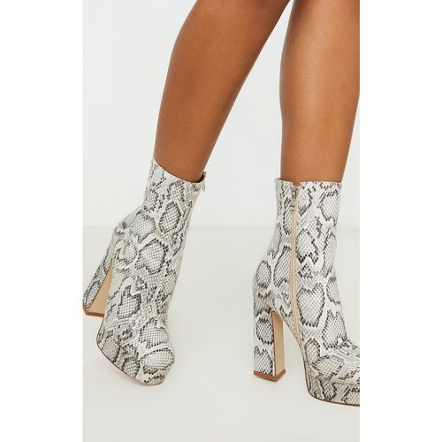 Bottines plateforme serpent, - PrettyLittleThing - Shopsquare