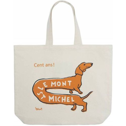 Tote Bag Chien - LE MONT SAINT MICHEL - Modalova