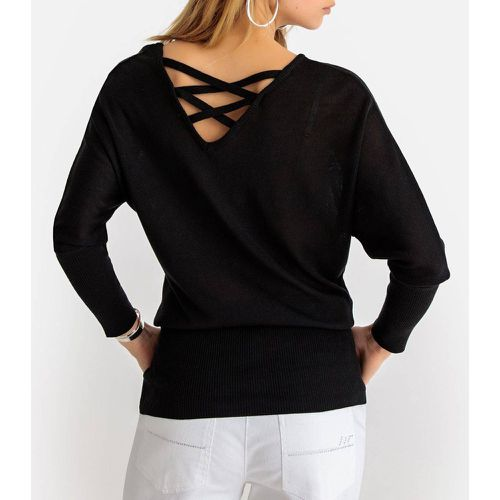 Pull tunique col rond en fine maille fantaisie - Anne weyburn - Shopsquare
