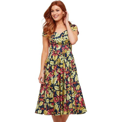Robe cocktail a imprime floral et fruits - Joe Browns - Shopsquare