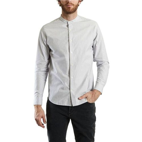 Chemise Col Officier Chambray - closed - Shopsquare