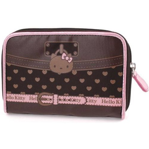 Portefeuille Hello Kitty chocolat coeur by - CAMOMILLA - Shopsquare