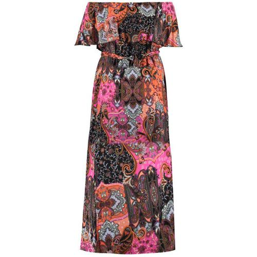 Robe colorée maxi - MS MODE - Modalova