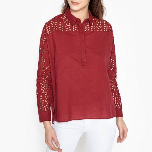 Chemise unie et broderies anglaise FABILA - BERENICE - Shopsquare