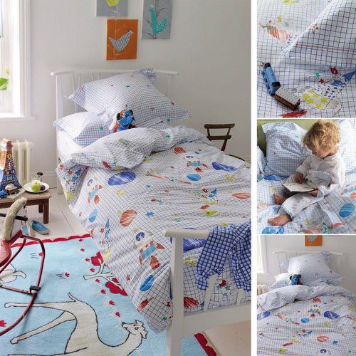 Drap housse enfant en coton, To the Moon - Designers Guild - Shopsquare