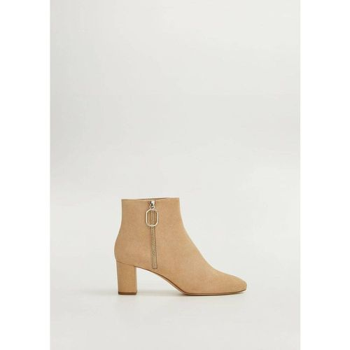 Bottines daim talon - Mango - modalova