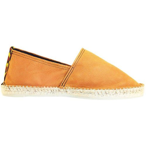 Espadrilles cuir et wax Made in France - LA BROUSSE - Shopsquare