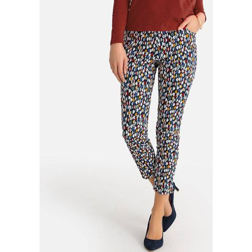 Pantalon droit 7/8ème, satin de coton stretch - Anne weyburn - Shopsquare