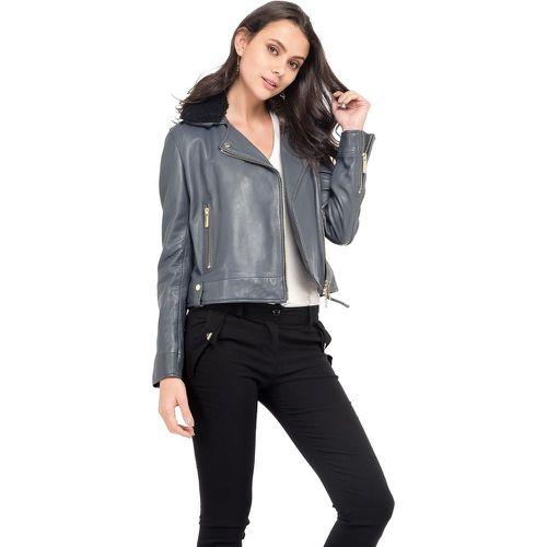 805ed94a2a9b3f Veste en cuir poches zippées manches longues - OAKWOOD - Shopsquare