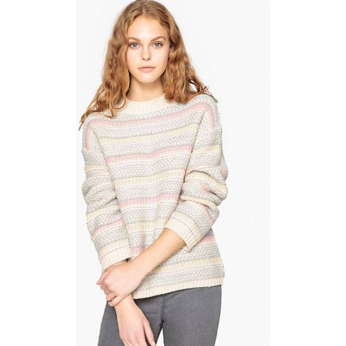 Pull col rond jacquard - LA REDOUTE COLLECTIONS - Shopsquare