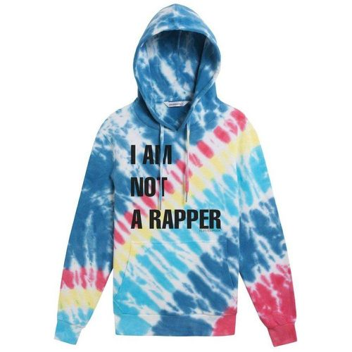 Sweat à capuche tie-dye imprimé I AM NOT A RAPPER - Eleven Paris - Shopsquare