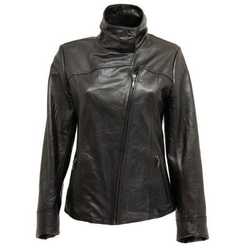 Blouson cuir col montant made in France - DKS - Modalova