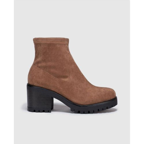 Bottines camel à plateforme - GREEN COAST - Shopsquare