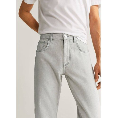 Jean tapered-fit gris - mango man - Modalova