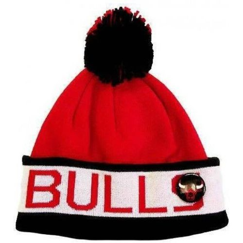 Bonnet à pompon NBA - Chicago BULLS - Block Cuff - - MITCHELL AND NESS - Shopsquare