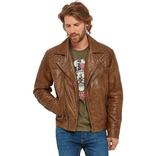 Veste motard en cuir fauve - Joe Browns - Shopsquare
