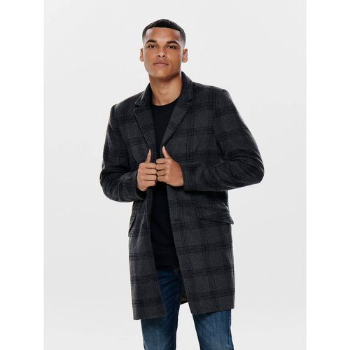 Manteau Carreaux laine - ONLY ET SONS - Shopsquare