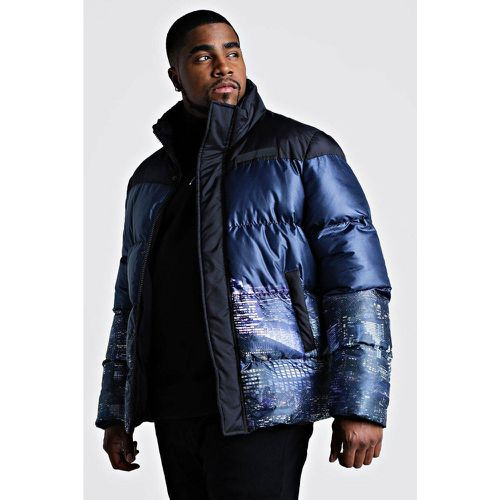 Manteau court col rond - BOOHOOMAN BIG & TALL - Modalova