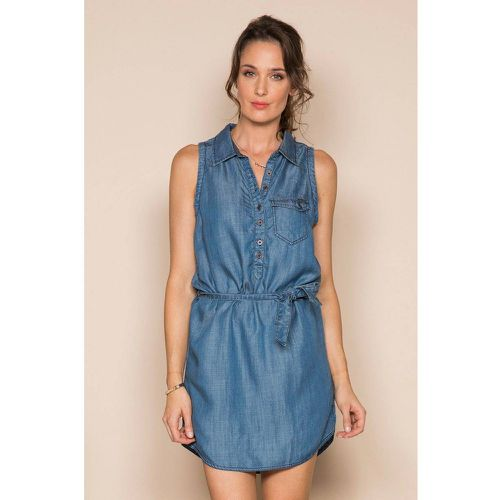 63970115619b5 Robe sans manche à col chemise MAYBE - DEELUXE - Shopsquare