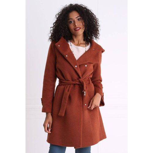 Manteau peignoir large capuche - BREAL - Modalova