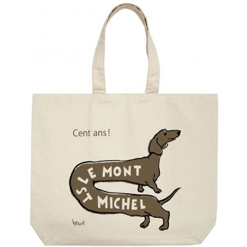 Tote Bag Chien - LE MONT SAINT MICHEL - Shopsquare