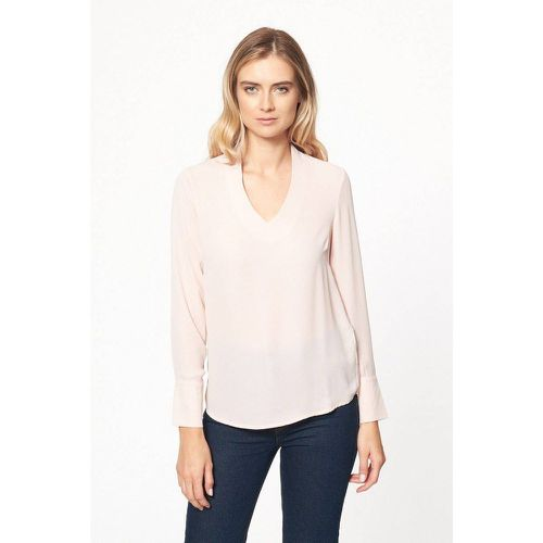 Blouse unie col V - BEST MOUNTAIN - Modalova