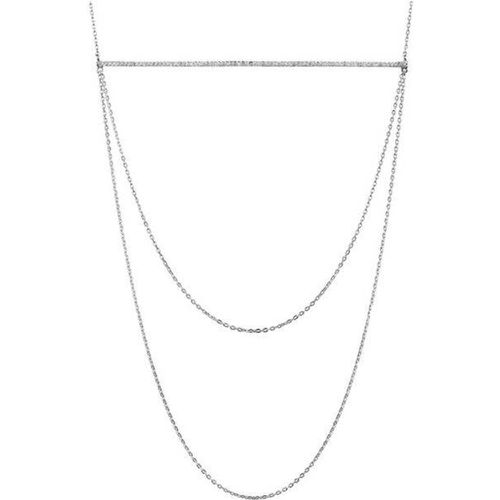 Collier plastron en 925 passivé, brillants, 6.4g - Canyon - Modalova