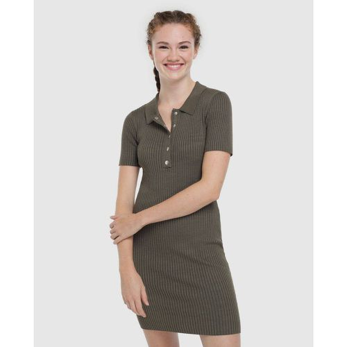 Robe côtelée col polo - EASY WEAR - Modalova