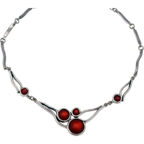 Collier plastron en métal argenté et pierres collection ART DECO - LILI LA PIE - Shopsquare