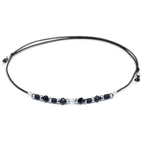 Bracelet cordon Black Swan - pierres - YAY- YOU ARE YOUNG - Modalova