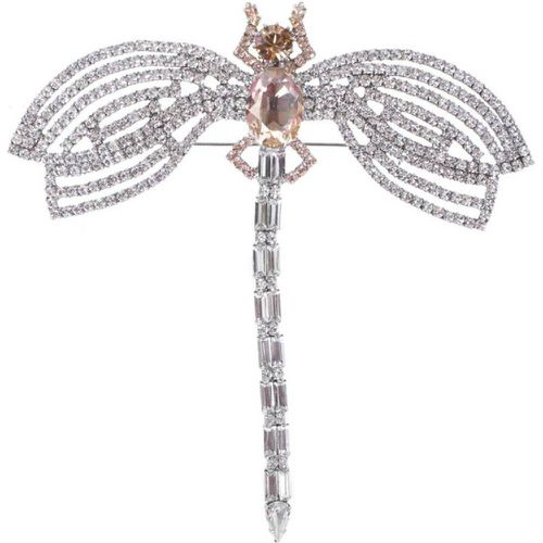 Broche Big Dragonfly Rose - REINE ROSALIE - modalova