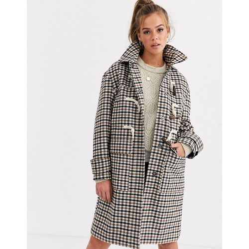 Duffle-coat à carreaux- - ASOS DESIGN - Modalova