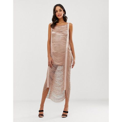 Robe longue à franges- - ASOS DESIGN - Modalova