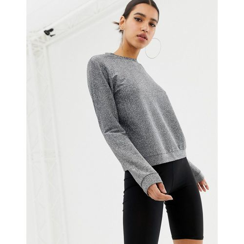 Sweat-shirt - métallisé - ASOS DESIGN - Modalova