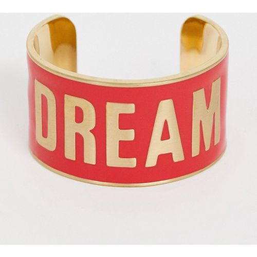 Diversity Collection - Bracelet large avec slogan Dream- - Benetton - Modalova