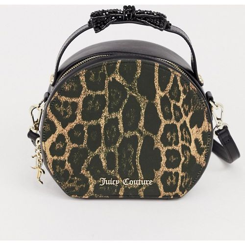 Juicy Black Label - Burnett - Sac rond imprimé léopard avec nœud- - Juicy Couture - Shopsquare