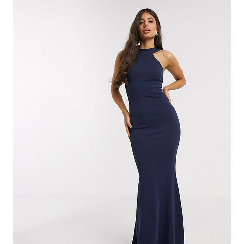 Robe longue dos nu - marine - Missguided Tall - Modalova
