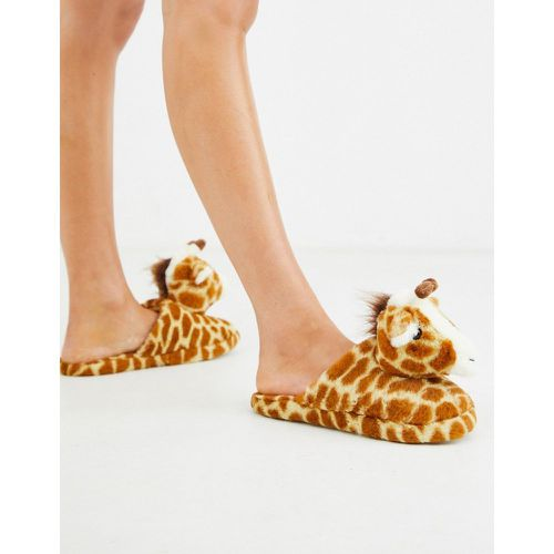Chaussons girafe - New Look - Modalova