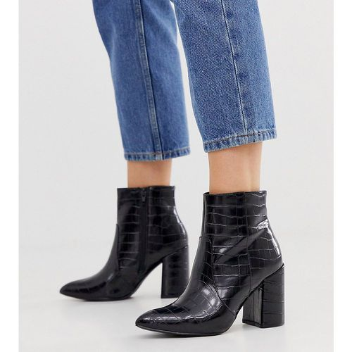 Bottes pointues à talons - croco - New Look Wide Fit - Modalova