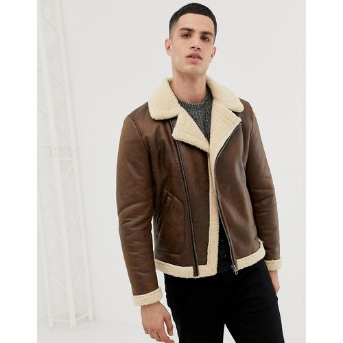 Only & Sons - Veste aviateur-Marron - Only & Sons - modalova