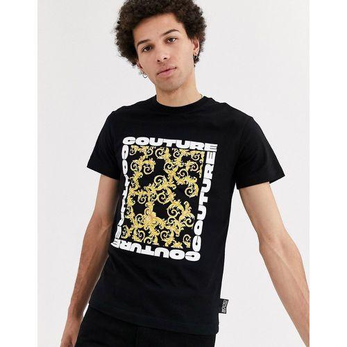 Versace Jeans Noir Imprimé Graphique T-Shirt