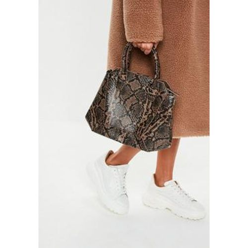 Sac à main marron dans un style serpent - Missguided - Shopsquare