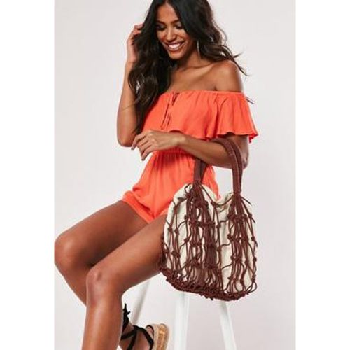 Sac à  main en toile avec cordes marron - Missguided - Shopsquare