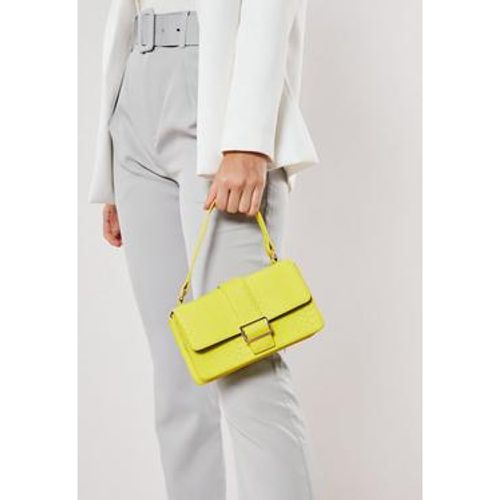 Sac à main vert citron imitation serpent - Missguided - Shopsquare